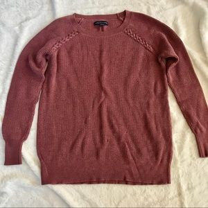 American Eagle knitted sweater 3/4 length sleeves